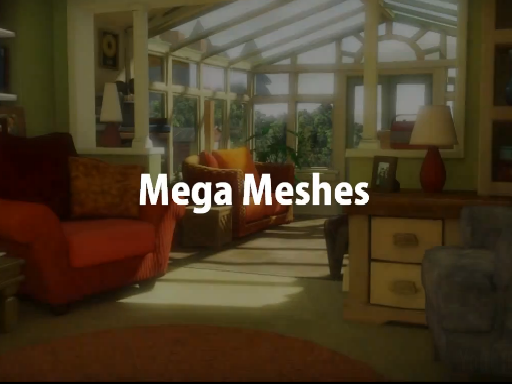 Mega Meshes | Modelling, rendering and lighting a world made of 100 billion polygons