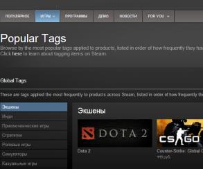 Valve завела в Steam систему тегов