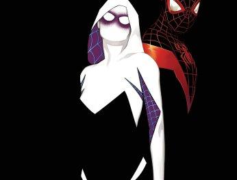 Человек-паук Майлз Моралес встретился с Женщиной-пауком Гвен Стейси