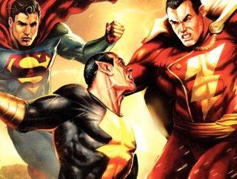 Черный Адам и Капитан Марвел дерутся, Супермен смотрит (не порно)