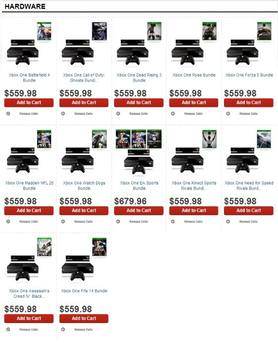 Стали известны первые комплекты Xbox One и PlayStation 4 - Изображение 2