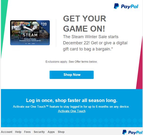 PayPal разгласил дату старта зимней распродажи в Steam - Изображение 2
