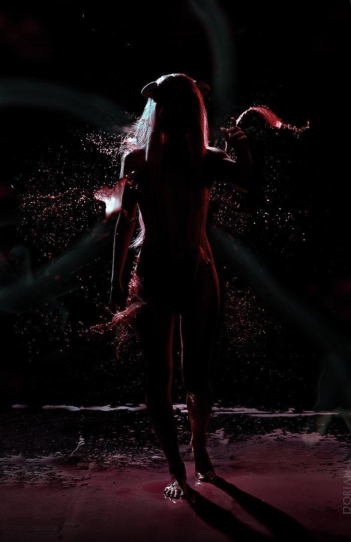 Фонтаны крови: косплей Люси из «Эльфийской песни» - Изображение 5