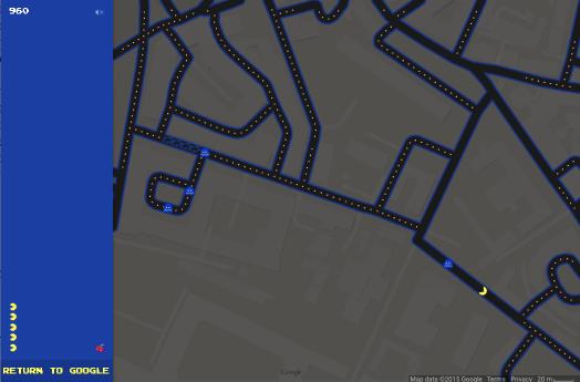 В Google Maps можно играть в Pac-Man - Изображение 1