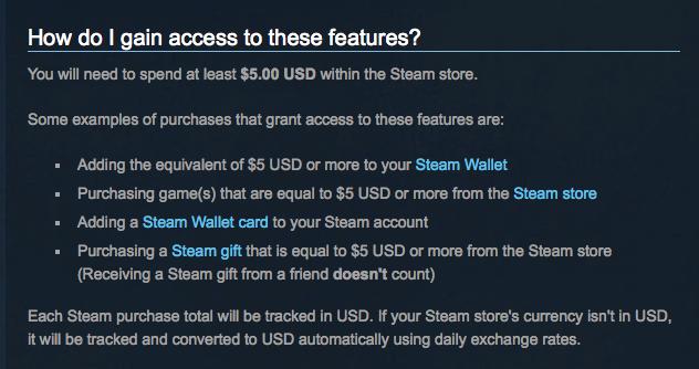 Steam ограничила функции сервиса для игроков, заплативших меньше $5 - Изображение 2