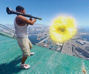 Гифка дня: занимательный полет ракеты вGrand Theft Auto5