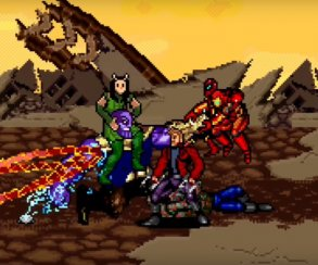 Битву Мстителей иСтражей Галактики сТаносом воссоздали в16-битном стиле