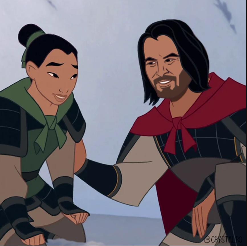 Киану Ривза нарисовали в образах Аладдина, Чудовища и других принцев из мультфильмов Disney  | Канобу - Изображение 6077