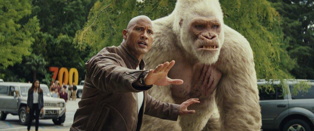 Огромные, жуткие животные иотважный Дуэйн Джонсон нановых кадрах фильма «Рэмпейдж». - Изображение 9