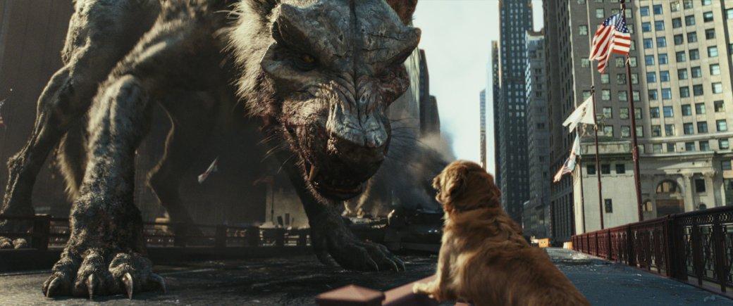 Огромные, жуткие животные иотважный Дуэйн Джонсон нановых кадрах фильма «Рэмпейдж». - Изображение 8
