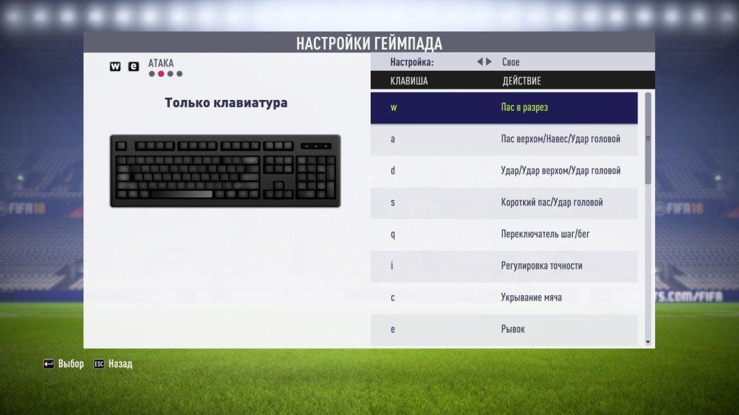 Настройки управления на клавиатуре в FIFA 18: как пробивать и отбивать пенальти и делать финты. - Изображение 2