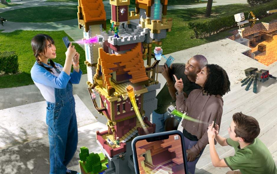 Microsoft представила мобильную Minecraft Earth— сдополненной реальностью вдухе Pokemon Go | Канобу - Изображение 0