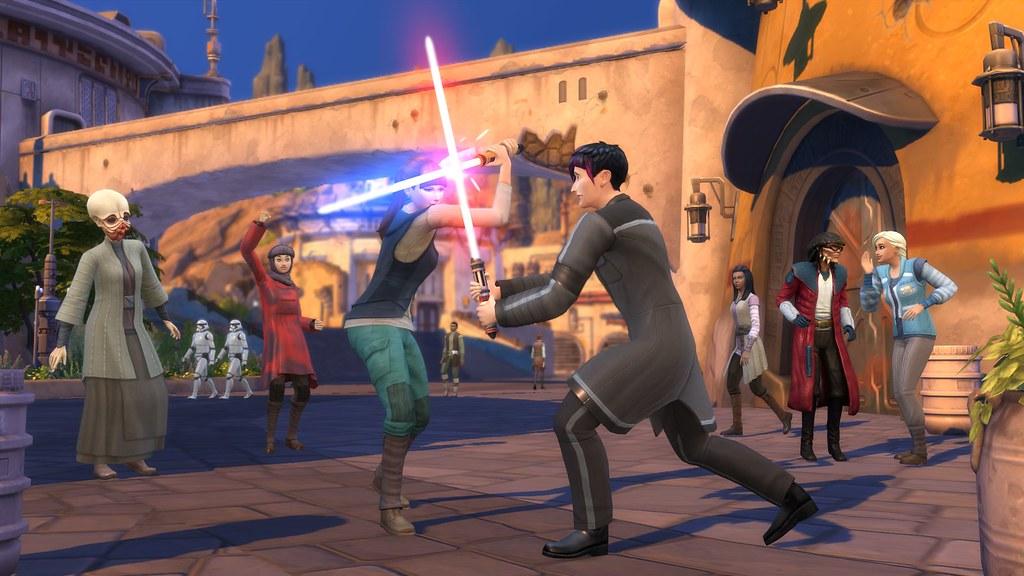 Изсима вгероя «Звездных войн». Как преобразиться в«The Sims 4: Путешествие наБатуу»? | Канобу