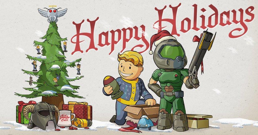Разработчики поздравляют игроков с Рождеством. Подборка праздничных открыток   Канобу - Изображение 12487