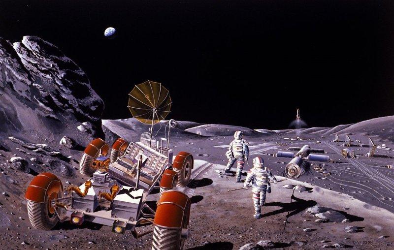 Фантастические книги о покорении и исследовании Луны