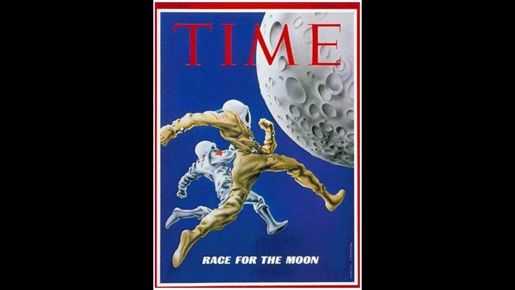 Американские обложки журналов про русских космонавтов